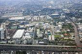 Cityscape Of Bangkok City, Top View. Aerial View On Urban Bangkok, Thailand poster