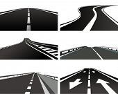picture of curvy  - Vector Illustration of a asphalt road - JPG