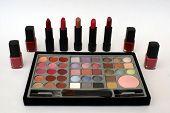 Make-Up/ Makeup In A Box. Lipsticks. Nail Polish. poster