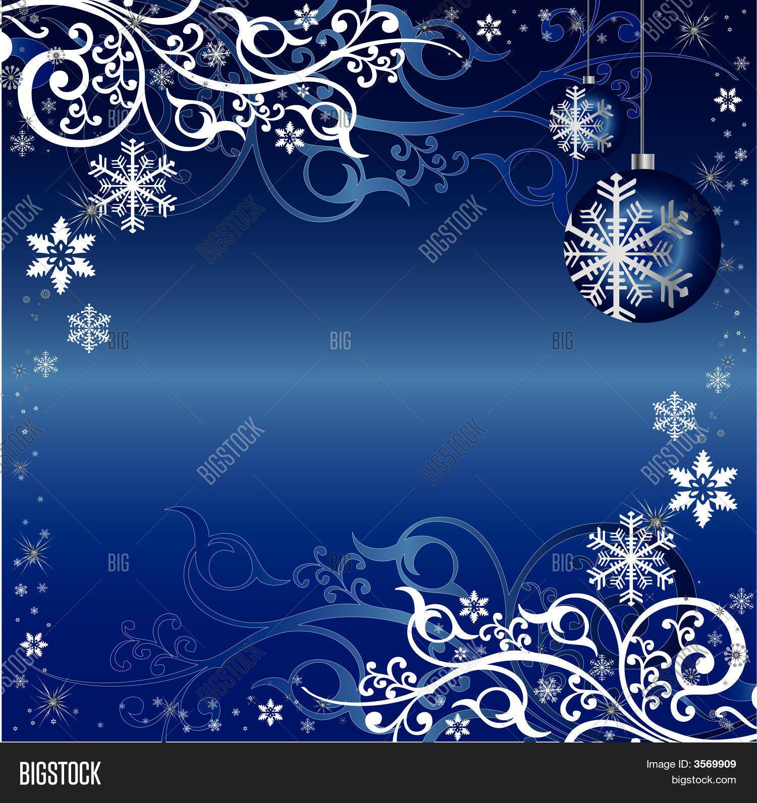 Blue White Christmas Themed Vector Photo Bigstock