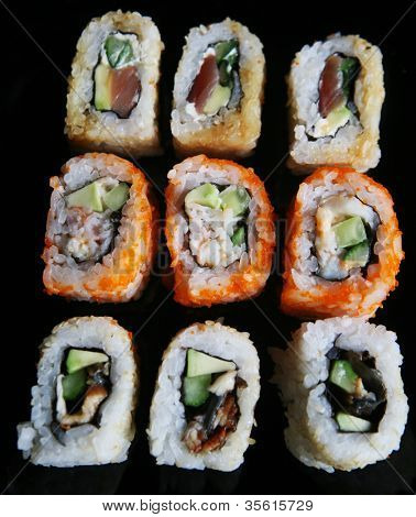 Japanese Sushi and rolls