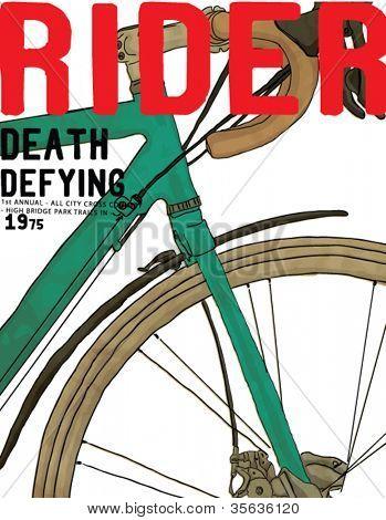piloto de corrida de bicicleta de ilustração para vestuário