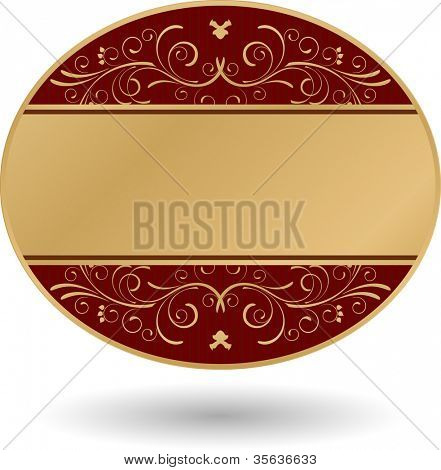 ornate golden round card