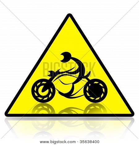 Motorcycle riders sign
