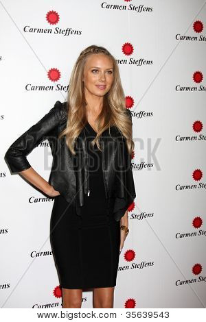 LOS ANGELES - AUG 2:  Melissa Ordway arrives at the Carmen Steffens West Coast Flagship Store Opening at Hollywood & Highland on August 2, 2012 in Los Angeles, CA