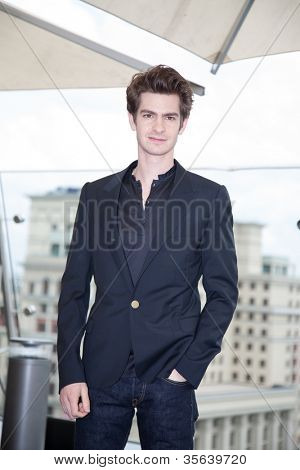 MOSCOW, RUSSIA-JUNE 15: Actor Andrew Garfield. Premiere of the movie