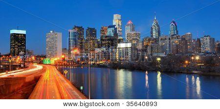 Skyline cidade da Filadélfia, Pensilvânia.