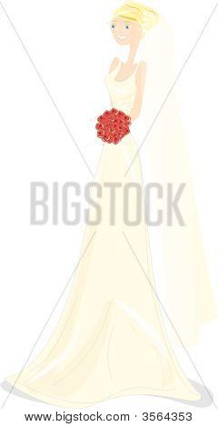 Wedding Girl Illustration