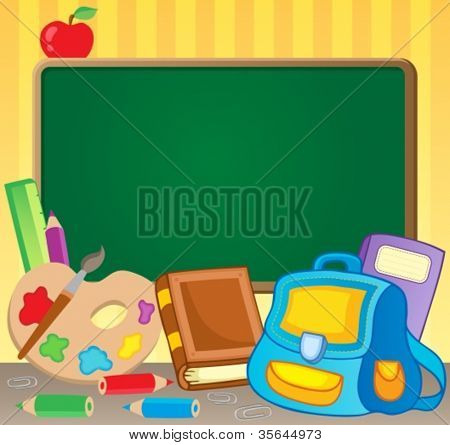 Schoolboard theme image 1 - vector illustration.