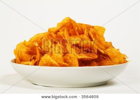 Plate With Potato Chips