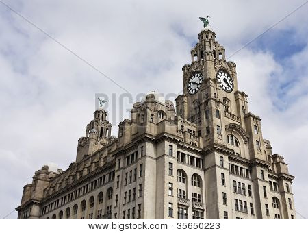 A Pair Of Liver Birds On The Royal Liver Building
