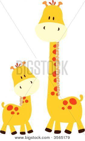 Bebê girafas
