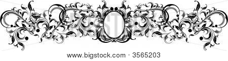 Quadro de ornamentos caligráficos