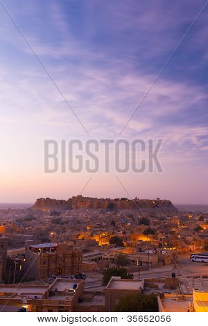 Jaisalmer Fort Sunrise Morning Copy Space V