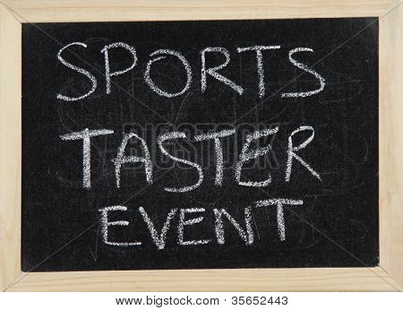 Sports Taster Event.