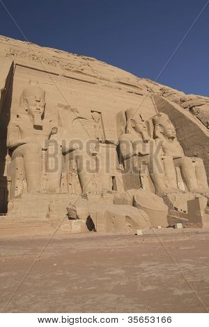 Abu Simbel Temple. Vertically. (egypt)