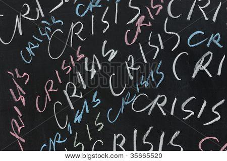 Chalkboard Drawing - Crisis