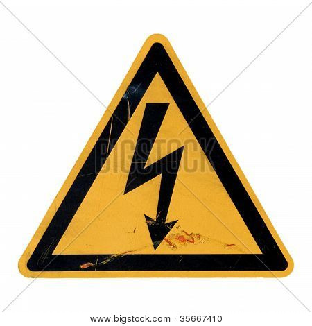 Danger Of Death Electric Shock