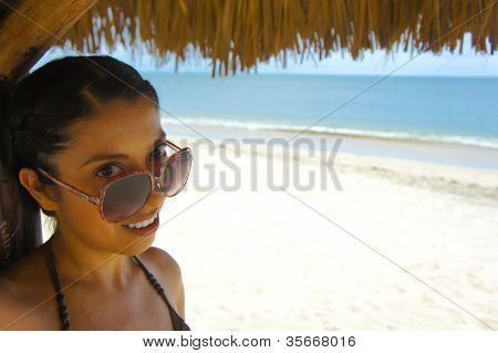 Woman Under A Palapa