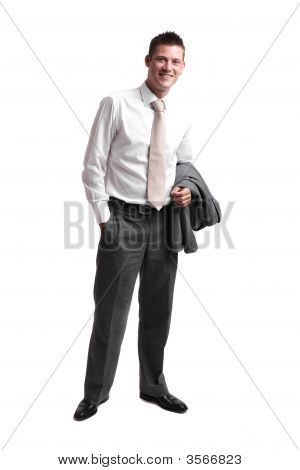 Young Businessman Taking A Break