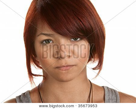 Frowning Young Woman