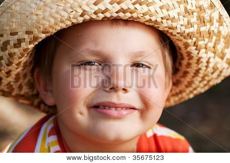 Boy In A Wicker Hat