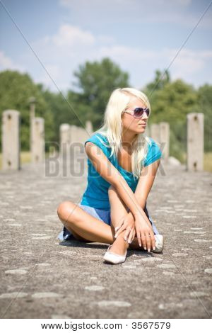 Blond Girl Relaxing