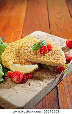 Cotoletta Alla Milanese - Fried Breaded Veal Milanese