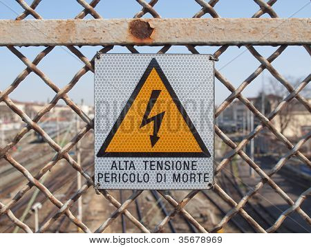 Electric Shock Sign