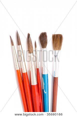 Brushes art. Isolation on white