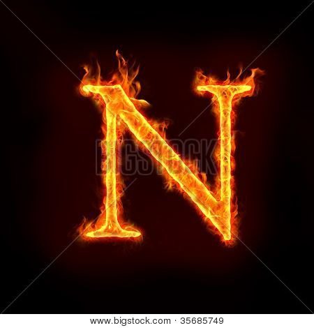 Fire Alphabets, N