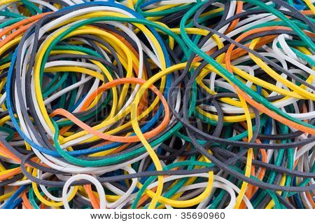 Background from color elastic bands
