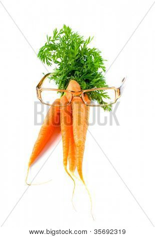 Glasses and carrots