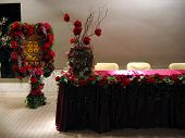 foto of wedding table decor  - reception of a chinese wedding party - JPG