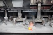 foto of rework  - Electrochemical electrolytic process of production of aluminium on factory - JPG