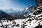 stock photo of cho-cho  - Cho La pass and sunrise in Himalayas - JPG