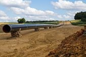 stock photo of oilfield  - new gas pipelines being built next to Schwandorf in Bavaria - JPG