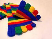 stock photo of knee-high socks  - striped toe socks - JPG