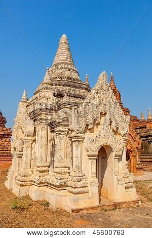 white small pagoda in Bagan