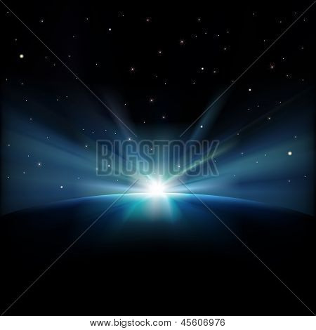 Abstract Space Background With Stars