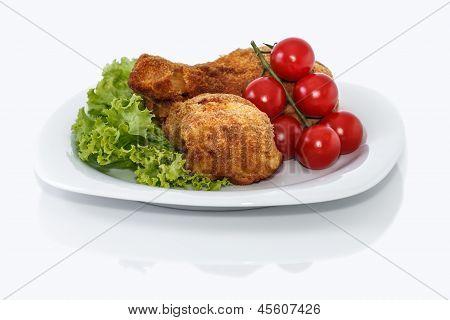 Breading Chicken Legs