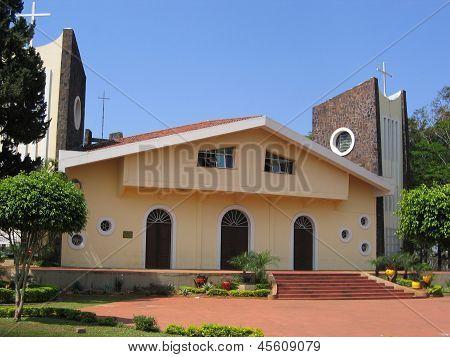 Paraguay, Ciudad del Este: San Blas cathedral, boat shaped architecture