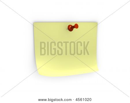 Note With Red Pushpin