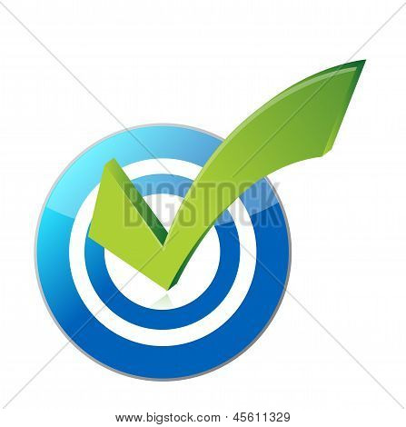 Target Checkmark Illustration Design