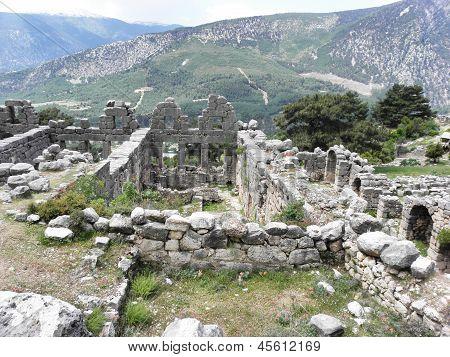 Remains of Roman baths in Arykanda.