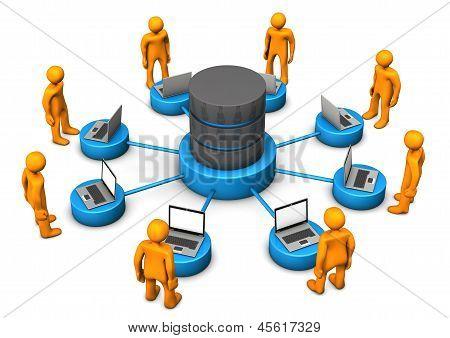 Database Laptops Manikins