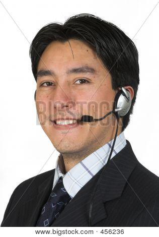 Geschäftsmann mit Headset