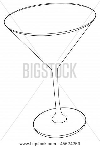 Vector illustration of cocktail glass