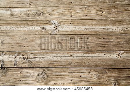 Worn And Sandy Beach Planks