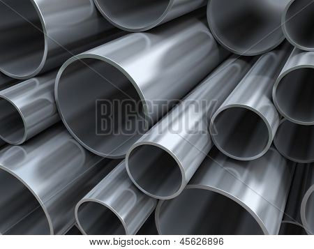 Steel Pipes Background